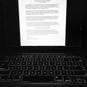 writing in the night