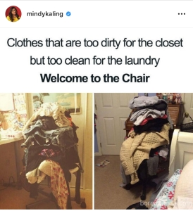 The Chair. MindyKaling Instagram
